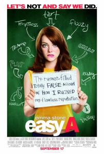 """Poster for """"Easy A"""""""