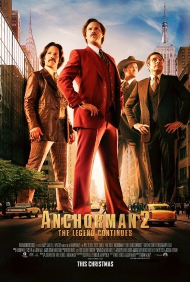Poster for Anchorman 2: The Legend Continues
